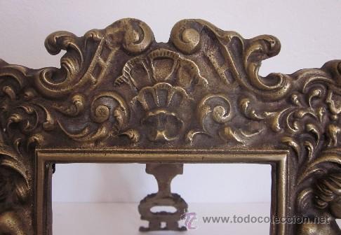 Antigüedades: ANTIGUO MARCO DE BRONCE MODERNISTA - Foto 4 - 38293593