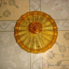 Antigüedades: TAPADERA DE CRISTAL. Lote 38293728
