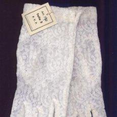 Antigüedades: GUANTES DE ENCAJE PARA COMUNION - TALLA 3. Lote 55065802