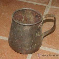 Antigüedades: GRAN OLLA DE S.XIX EN BRONCE, ORIGINAL. Lote 38304752