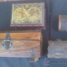 Antigüedades: COLECCION DE BAULES-ARCONES-COFRES DE MADERA . Lote 38362011