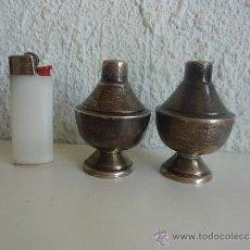 Antigüedades: STERLING SILVER SALERO Y PIMENTERO PLATEADOS MC45 PLATA DE MÉXICO. Lote 38324336