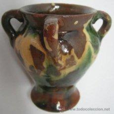 Antigüedades: ANTIGUA Y PEQUEÑA ORZA ESMALTADA 4 ASAS. Lote 38327203