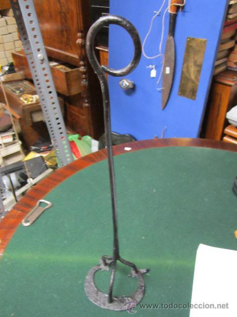Antigüedades: Antiguo hierro para marcar ganado. Medida marca: 10,5 x 8,5 cms. - Foto 2 - 38338041