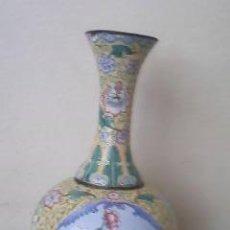 Antigüedades: ANTIGUO JARRÓN DE COBRE RECUBIERTO CON PORCELANA PERIODO TING CHIN 1862-1875 A.D. DINASTIA CHING. Lote 54523977