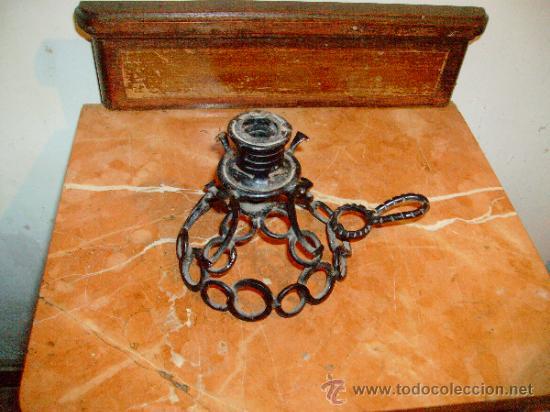 Antigüedades: portavelas. - Foto 4 - 38364238