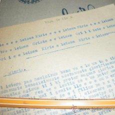 Antigüedades: ANTIGUA CUARTILLA A DOS CARAS CON LA MISA DE PIO X.. Lote 38352906