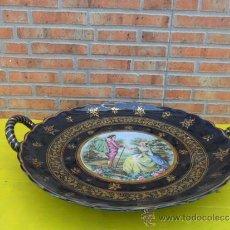 Antigüedades: PLATO FRUTERO DE CERAMICA CON ASA. Lote 38355507