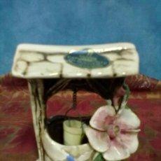 Antigüedades: PORCELANA CAPODIMONTE POZO FLOR. Lote 38359562