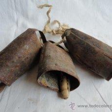 Antigüedades: LOTE DE 3 ANTIGUOS CENCERROS.. Lote 38360216