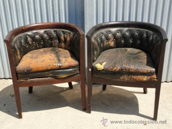 Antiguos sillones o butacas de despacho comprar for Sillones de despacho de diseno