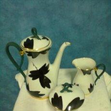 Antigüedades: JUEGO CAFE PORCELANA FRANCESA LIMOGES. Lote 38383684