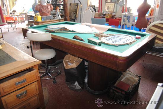 Mesa de billar a os 20 barcelona caoba piz comprar mesas antiguas en todocoleccion 38375635 - Mesa billar segunda mano ...