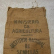 Antigüedades: SACO DE ARPILLERA DE 92X61CM. APROX. MINISTRERIO DE AGRICULTURA. . Lote 43950423