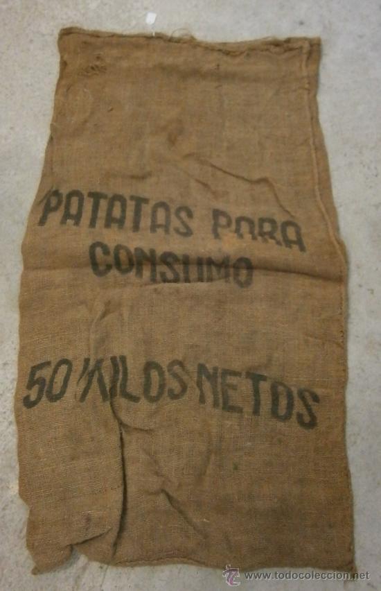 Saco de arpillera de 95x56cm aprox patatas pa comprar - Saco arpillera ...