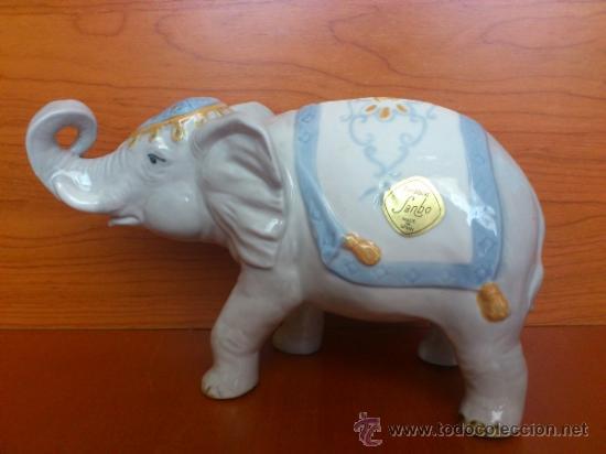 Antigüedades: Elefante en porcelana esmaltada SANBO - Foto 7 - 38398878