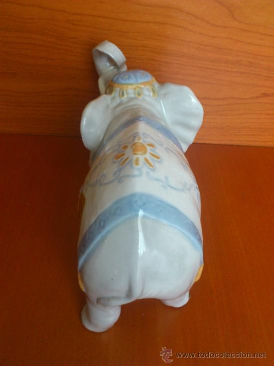 Antigüedades: Elefante en porcelana esmaltada SANBO - Foto 9 - 38398878