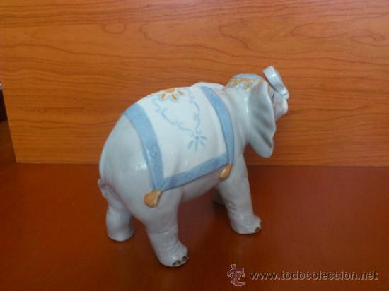 Antigüedades: Elefante en porcelana esmaltada SANBO - Foto 10 - 38398878