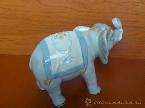 Antigüedades: Elefante en porcelana esmaltada SANBO - Foto 5 - 38398878