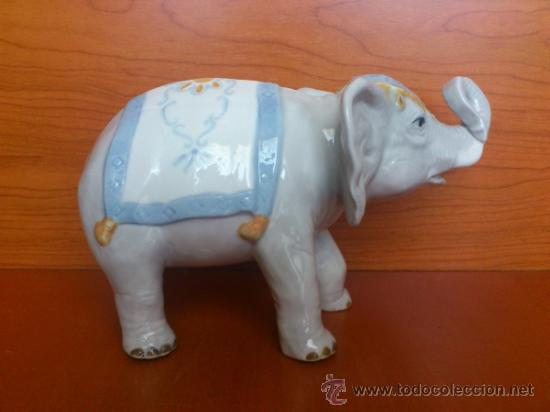 Antigüedades: Elefante en porcelana esmaltada SANBO - Foto 4 - 38398878