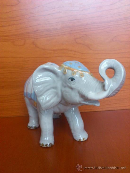 Antigüedades: Elefante en porcelana esmaltada SANBO - Foto 3 - 38398878