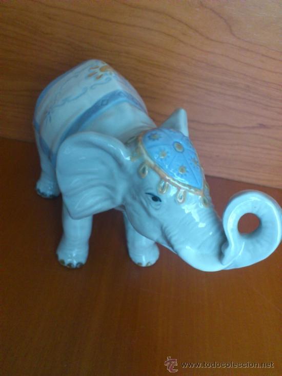 Antigüedades: Elefante en porcelana esmaltada SANBO - Foto 11 - 38398878
