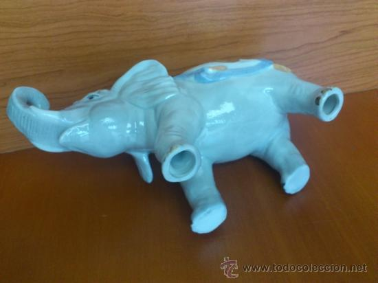Antigüedades: Elefante en porcelana esmaltada SANBO - Foto 12 - 38398878