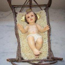 Antigüedades: NIÑO JESÚS DE CUNA TALLER DE OLOT. Lote 38402062