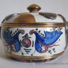 Antigüedades: ANTIGUO CENTRO DE MESA, DE CERÁMICA, VALENCIANA PINTADO A MANO. Lote 38410349