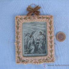Antigüedades: ANTIGUO ESCAPULARIO ALELUYA. BORDADO. 11 X 9 CM. Lote 38415772