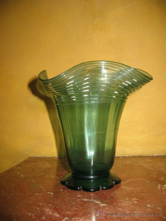 Antigüedades: Jarrón,copa o vaso de vidrio soplado.Gordiola. Mallorca. - Foto 2 - 38412994