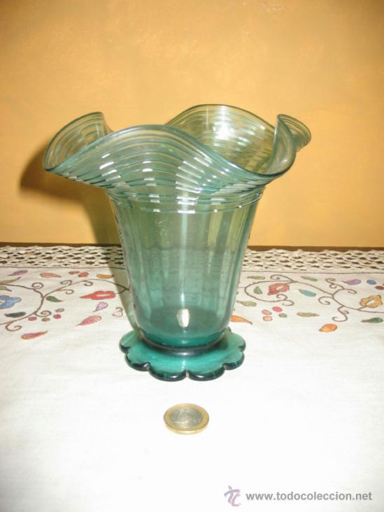 Antigüedades: Jarrón,copa o vaso de vidrio soplado.Gordiola. Mallorca. - Foto 3 - 38412994