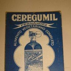 Antigüedades: ESPEJO DE BOLSILLO PUBLICITARIO CEREGUMIL. FERNANDEZ & CANIVELL. MALAGA. . VER FOTOS. Lote 38415804