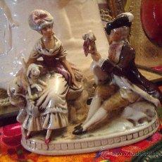 Antigüedades: PRECIOSA FIGURA ALEMANA MEISSEN SIGLO XIX. Lote 38422221