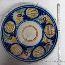 Antigüedades: PLATO DE MANISES POLICROMO - SIGLO XIX. Lote 38422793
