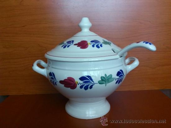 Antigüedades: Sopera antigua con cazo en ceramica ( Borenbont By BOCH ) Belgium - Foto 7 - 38434834