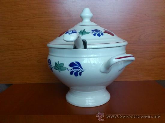 Antigüedades: Sopera antigua con cazo en ceramica ( Borenbont By BOCH ) Belgium - Foto 8 - 38434834