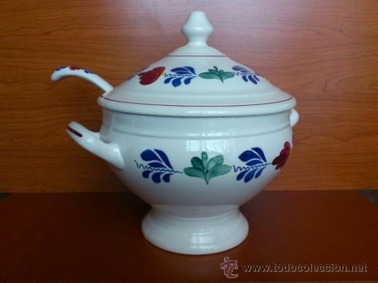 Antigüedades: Sopera antigua con cazo en ceramica ( Borenbont By BOCH ) Belgium - Foto 9 - 38434834