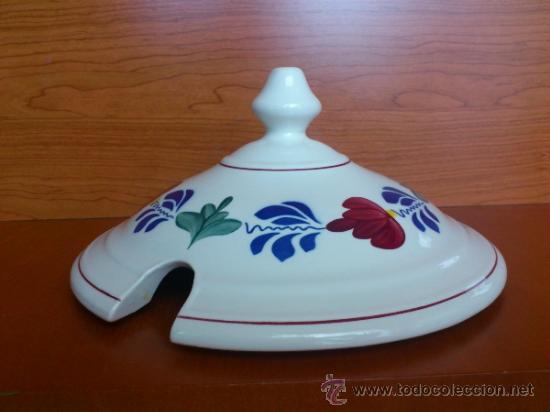 Antigüedades: Sopera antigua con cazo en ceramica ( Borenbont By BOCH ) Belgium - Foto 19 - 38434834