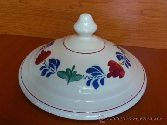 Antigüedades: Sopera antigua con cazo en ceramica ( Borenbont By BOCH ) Belgium - Foto 17 - 38434834