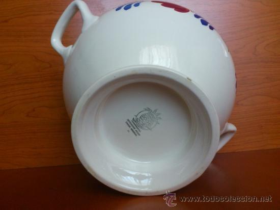 Antigüedades: Sopera antigua con cazo en ceramica ( Borenbont By BOCH ) Belgium - Foto 14 - 38434834