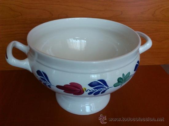 Antigüedades: Sopera antigua con cazo en ceramica ( Borenbont By BOCH ) Belgium - Foto 4 - 38434834