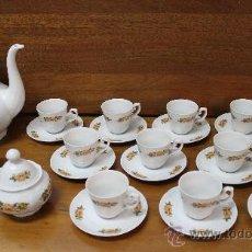 Antigüedades: JUEGO DE CAFE DE PORCELANA ALEMANA ALTA CALIDAD BAVARIA - COMPLETO 15 PIEZAS – MARCA EN LA BASE. Lote 38432025
