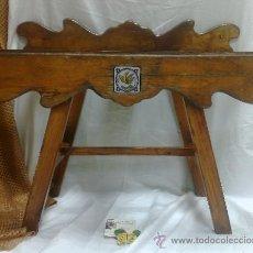 Antigüedades: ANTIGUA CANTARERA EN MADERA .. Lote 68970526