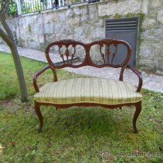 Sill n dos plazas comprar sillones antiguos en todocoleccion 37556315 - Sillon dos plazas ...