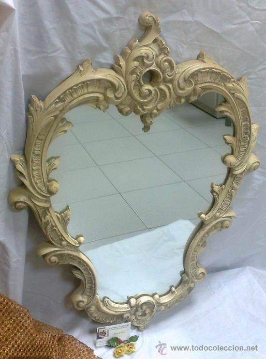 Antiguo espejo de pared en madera y estuco comprar - Espejos antiguos de pared ...