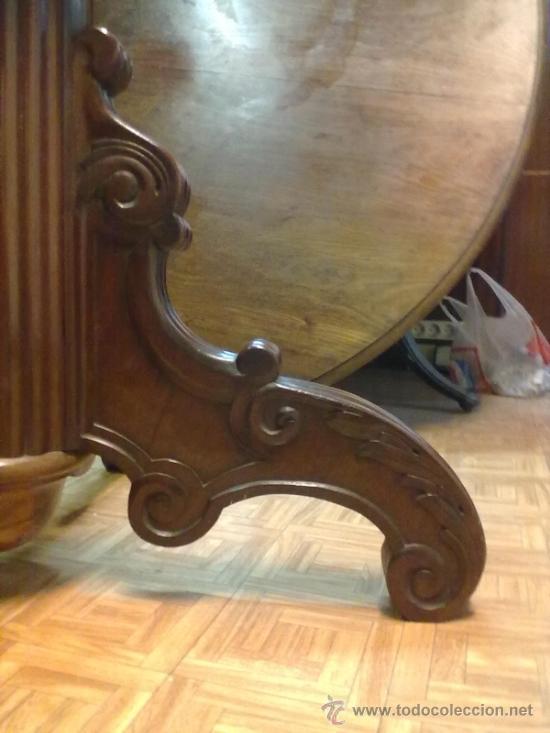 Antigüedades: MESA REDONDA COMEDOR CAOBA - Foto 6 - 38513509