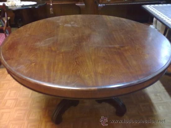 Antigüedades: MESA REDONDA COMEDOR CAOBA - Foto 2 - 38513509