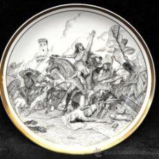 Antigüedades: DECORATIVO PLATO PINTADO DE MANUFACTURA ALEMANA BAVARIA SCHUMANN CON FIRMA DE L.SERRADAS. Lote 38481050