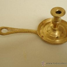 Antigüedades: PALMATORIA DE METAL DE PEQUEÑAS DIMENSIONES, PARA VELA FINA.. Lote 38475568